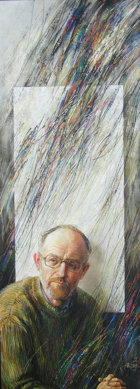 Self-portrait. 2004y. Canvas, oil. 120х45 cm.