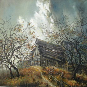 Last autumn. 2006y. Canvas, oil. 70х70 cm.