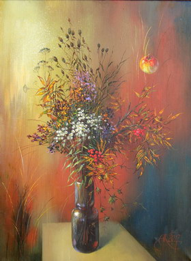 Autumn bouquet. 2007y. Canvas, oil. 80х60 cm.
