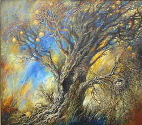 Tree. 2007y Canvas, oil. 81х91 cm.