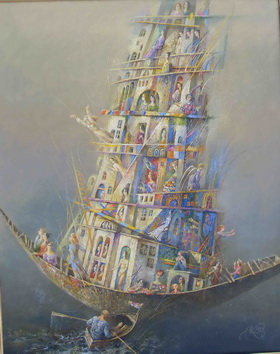 Ship of Expectation 2008 г. Canvas, oil. 100x80 cm.