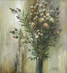 Bouquet of the August. 2007y Canvas, oil. 63х58 cm.