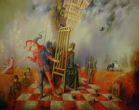 Reality of play. 2011. Canvas, oil. 80x100 cm.